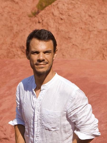 Thibaud Crivelli perfumer founder ochre terracotta Roussillon portrait emotional botanist - Maison Crivelli