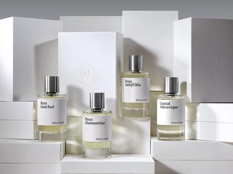 clean beauty no plastic range sustainable Haute Parfumerie bottles boxes - Maison Crivelli