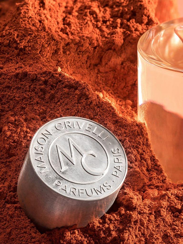 innovation haute Parfumerie capot flacon de parfum terracotta - Maison Crivelli
